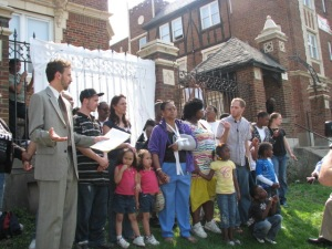 In April 2010, Homeless Coalition staff advocated with and on behalf of 150 tenants in Avondale who were without electric and gas because their landlord squandered their money. Many of them were living outside when the coalition became involved.