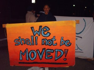 Even before we had an official Homeless Congress, the Coalition has encourage folks experiencing homelessness to speak out. 2008 Drop Inn Center Rally, 30 year anniversary of the midnight move.